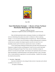 Smart Distribution Strategies – A Review of Some Northeast