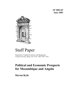 Staff Paper Political and Economic Prospects for Mozambique and Angola