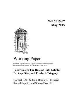 Working Paper WP 2015-07 May 2015