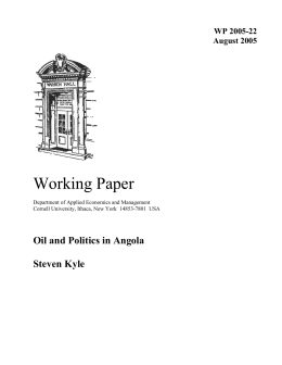 Working Paper Oil and Politics in Angola  Steven Kyle