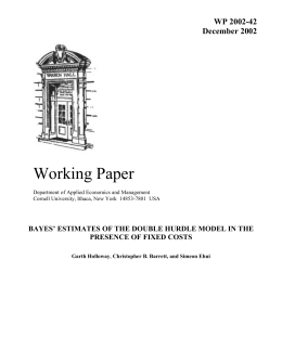 Working Paper  WP 2002-42 December 2002