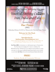 Youth & Shifting Cultures Iran, India and Cuba International Education