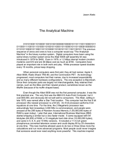 The Analytical Machine