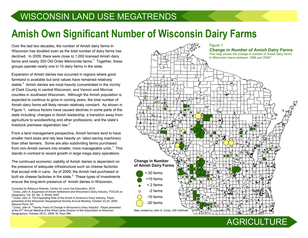 Amish Wisconsin Map.Amish Own Significant Number Of Wisconsin Dairy Farms
