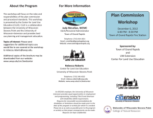 Plan Commission For More Information About the Program