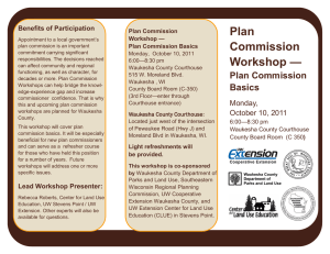 Plan Commission Workshop — Benefits of Participation