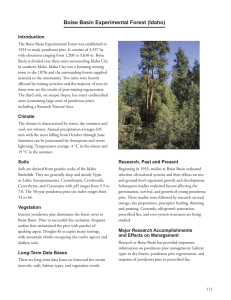 Boise Basin Experimental Forest (Idaho) Introduction