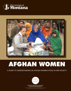 AFGHAN WOMEN DEFENSE CRITICAL LANGUAGE AND CULTURE PROGRAM