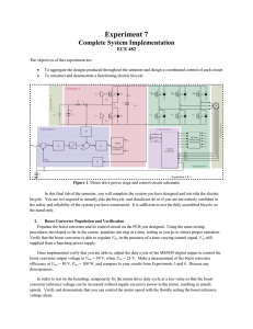 Experiment 7 Complete System Implementation ECE 482