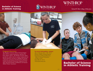 Bachelor of Science in Athletic Training Program Overview