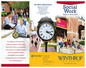 Social Work For More Information