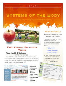 Systems of the Body Virtual Fast Facts for