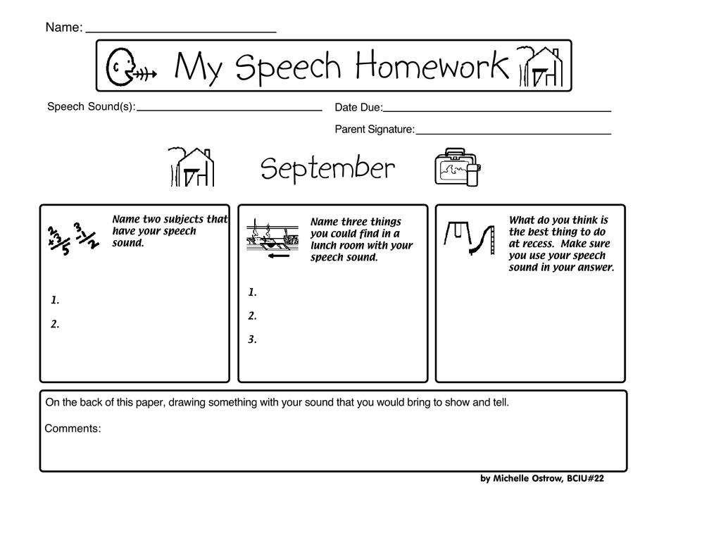 my speech homework michelle ostrow