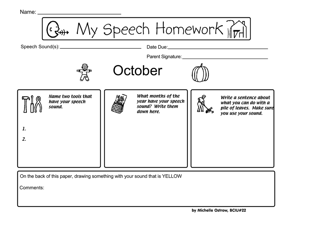 michelle ostrow speech homework