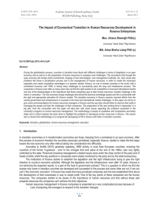 The Impact of Economical Transition in Human Resources Development in