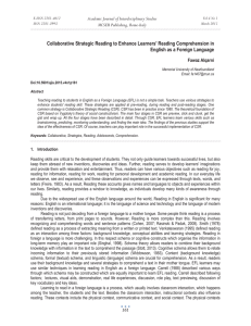 Collaborative Strategic Reading to Enhance Learners' Reading Comprehension in
