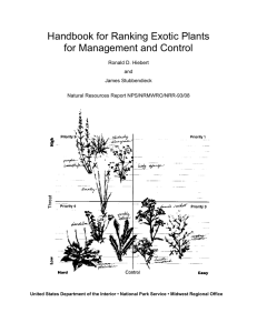 Handbook for Ranking Exotic Plants for Management and Control Ronald D. Hiebert and