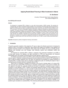 Applying Results-Based Financing in Water Investments in Albania MCSER Publishing, Rome-Italy