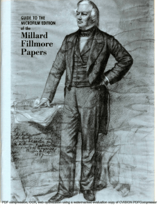 Mllard Fillmore Papers GUIDE TO THE