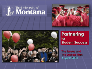 Partnering Student Success for The Issues and