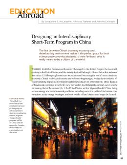 abroad educAtioN  designing an interdisciplinary