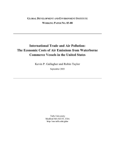 International Trade and Air Pollution: Commerce Vessels in the United States
