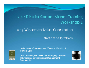 2013 Wisconsin Lakes Convention Meetings & Operations
