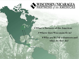 What is Partners of the Americas Where does Wisconsin fit in?