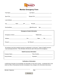 Member Emergency Form