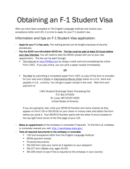 Obtaining an F-1 Student Visa