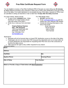 Free Ride Certificate Request Form