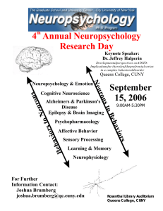4 Annual Neuropsychology Research Day