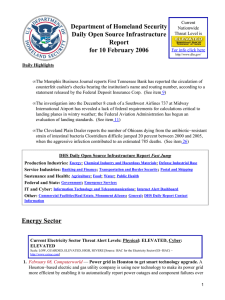 Department of Homeland Security Daily Open Source Infrastructure Report for 10 February 2006
