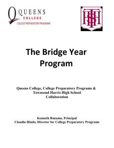 The Bridge Year Program  Queens College, College Preparatory Programs &