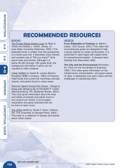 RECOMMENDED RESOURCES 4 IN TRODUC