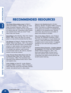 RECOMMENDED RESOURCES IN T R