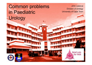 Common problems in Paediatric Urology John Lazarus