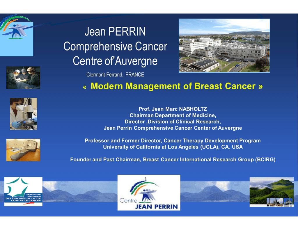 Jean PERRIN Comprehensive Cancer Centre of'Auvergne Modern