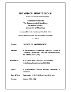 THE MEDICAL UPDATE GROUP  In collaboration with  The Department of Medicine,