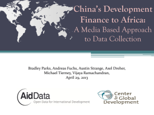 China's Development Finance to Africa: A Media Based Approach to Data Collection