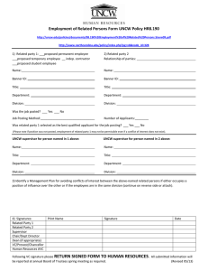Employment of Related Persons Form UNCW Policy HR8.190