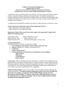 College of Visual and Performing Arts Syllabus Policy (6/29/15)