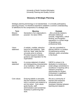 Glossary of Strategic Planning