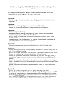 Guidelines for Completing IACUC002S (Student Classroom Research Project Form)