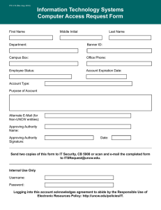 Information Technology Systems Computer Access Request Form