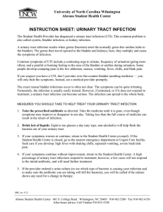 INSTRUCTION SHEET: URINARY TRACT INFECTION University of North Carolina Wilmington
