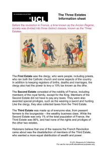 The Three Estates Information sheet