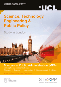 Science, Technology, Engineering & Public Policy Masters in Public Administration (MPA)