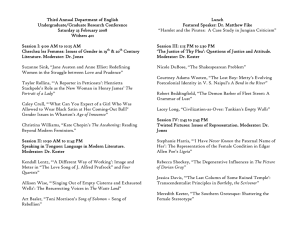 Third Annual Department of English Lunch Undergraduate/Graduate Research Conference