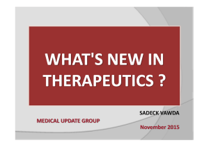 SADECK VAWDA MEDICAL UPDATE GROUP                                                            November 2015